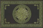 Celtic Circular knot in Cross 110 x 110 Green  KING SIZE