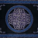 Celtic Circular knot in Cross 70 x 104 Tie Dyed