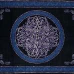 Celtic Circular knot in Cross 88 x 104 Tie Dyed