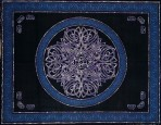 Celtic Circular knot in Cross 110 x 110 Tie Dyed  KING SIZE