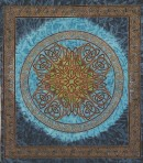 Celtic Knot in Blue (The Sean Knot) 86×102